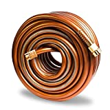 Greenbest Garden/Farm/Water Hose, Heavy Duty Kink Free, for Watering Lawn, Yard, Garden, Car washing, Pet and Home Cleaning. 5/8 inch x 25, 50, 75 and 100 ft (Color: Coffee Gold) (75FT)
