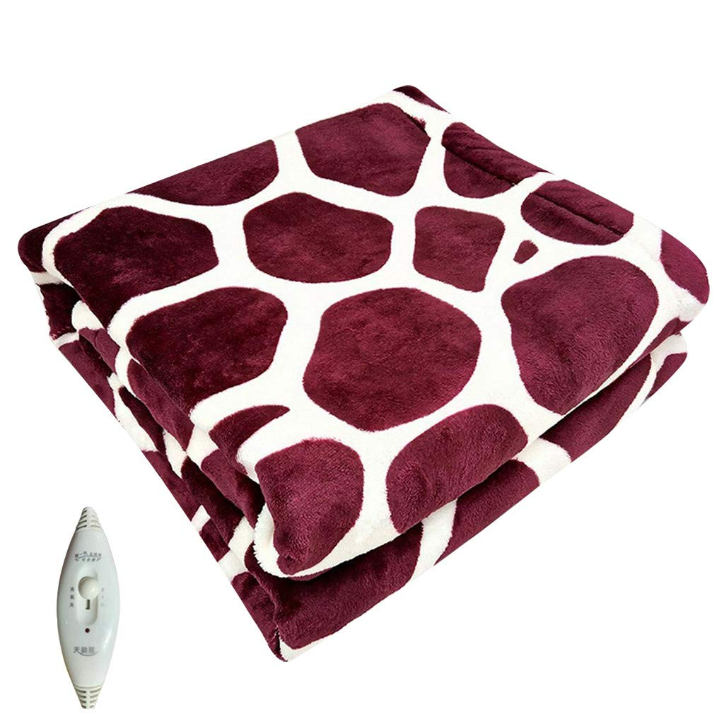 Lifechange 18 Inch Electric Blanket Heating Blanket, Deer Pattern Electric Heated Blanket Fast-Heating, Knee Pad Warming Body Pain Relief for Office Home