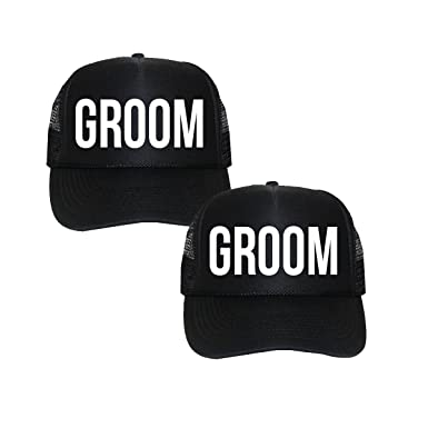 Image Unavailable. Image not available for. Color  Classy Bride Groom   Groom  Trucker Hats ... e94596019564