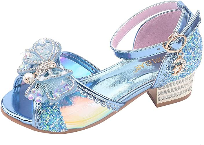Kids Girls Princess Shoes Crystal