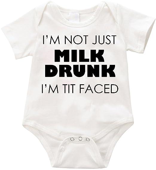Amazon.com  Anicelook I m not just Milk Drunk I m Tit faced infant ... 9c3b0cd44