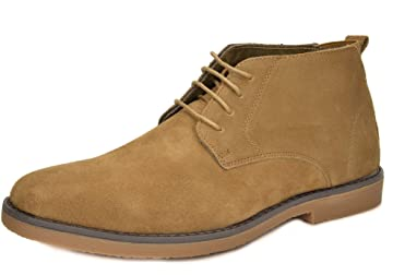 82b9b143ba1 BRUNO MARC NEW YORK Men s Classic Original Suede Leather Desert Storm Chukka  Boots
