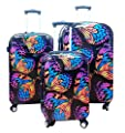 Kemyer, Hard Shell Wheeled Spinner, 3 Piece, Luggage Set