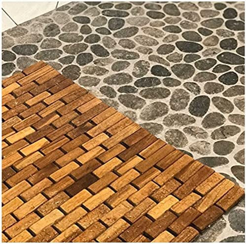 Hip-o Modern Living Teak Indoor Outdoor Bath and Shower Mat