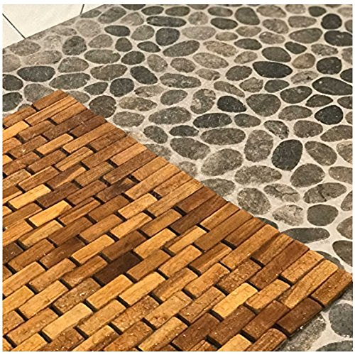 Hip-o Modern Living Teak Indoor Outdoor Bath and Shower Mat by Hip-o Modern Living