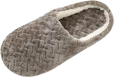 Women Men Unisex Winter Warm Soft Indoor Home Slip On Slippers Shoes