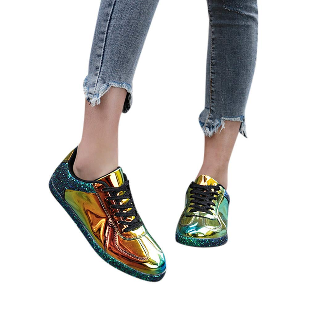 Amazon.com: COPPEN Women Sandals Fashion Colorful Series Sneakers Cool Wild Reflective Casual Shoes: Clothing