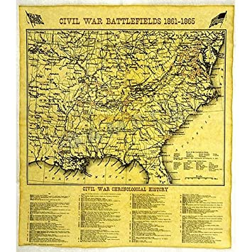 Civil War Battle Map 1861 - 1865 Replica Document by Historical ...