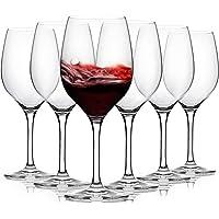 [3Diamonds] Wine Glass Set of 6 , Crystal Red Wine Glasses 11.75 oz, All-purpose Wine Glasses Set for Celebrations…