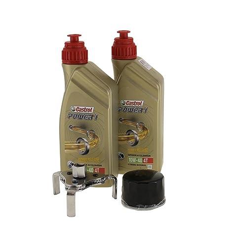Cambio de aceite Set 2 litros Castrol SAE 10 W de 40 Power 1 4t Incluye