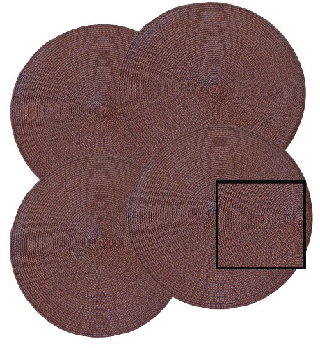 15-Round-Shape-Woven-Placemat-Set-of-4-Brown-Color