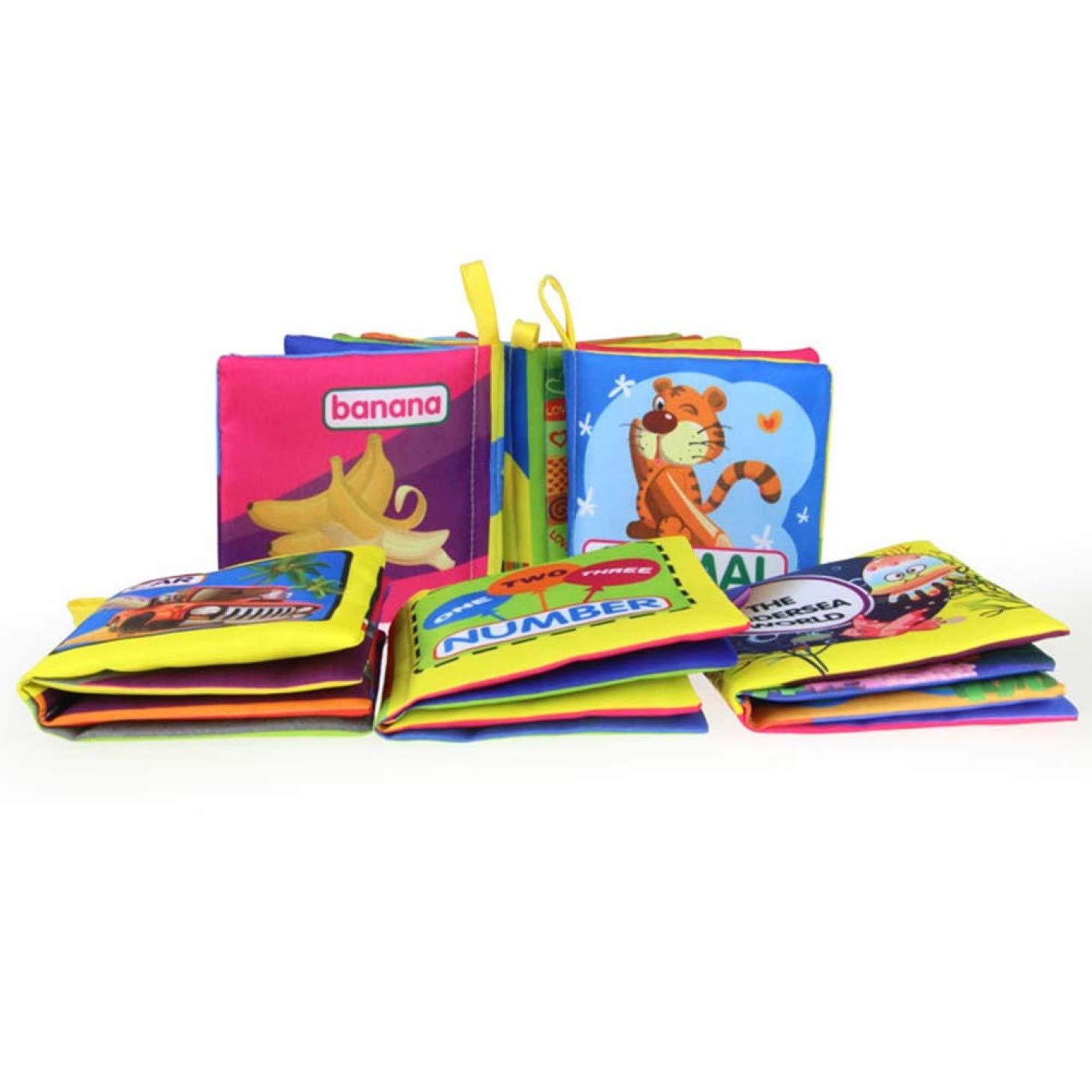 3D Libros Actividad de Tela para beb/és//ni/ños peque/ños Montague Superb Libro de cognici/ón Libro de Tela Ultra Suave beb/é Libros Touch and Feel Tela Libro Aprender a sensorial Libro