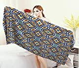 Anniutwo Ethnic,Baby Bath Towel,Moroccan Oriental Traditional Culture Motif Vintage Style Ottoman Royal Arabian,Print Wrap Towels,Multicolor Size: W 10'' x L 39.5''