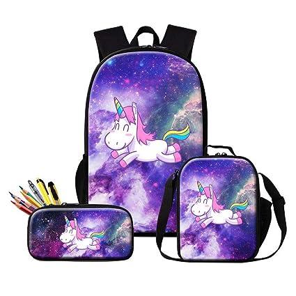 amazon com dispalang unicorn backpack galaxy insulated cooler bag