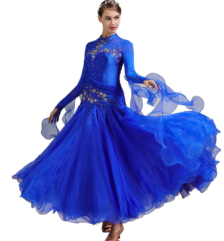 E XL SMACO Femmes Modernes Valse Tango Danse VêteHommests Standard Robes de Concours de Danse de Salon