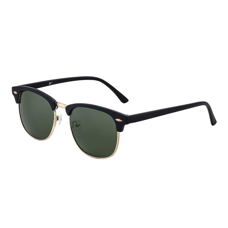 17e98c81f32b Retro Clubmaster Sunglasses Semi Rimless Browline Eyeglasses for ...