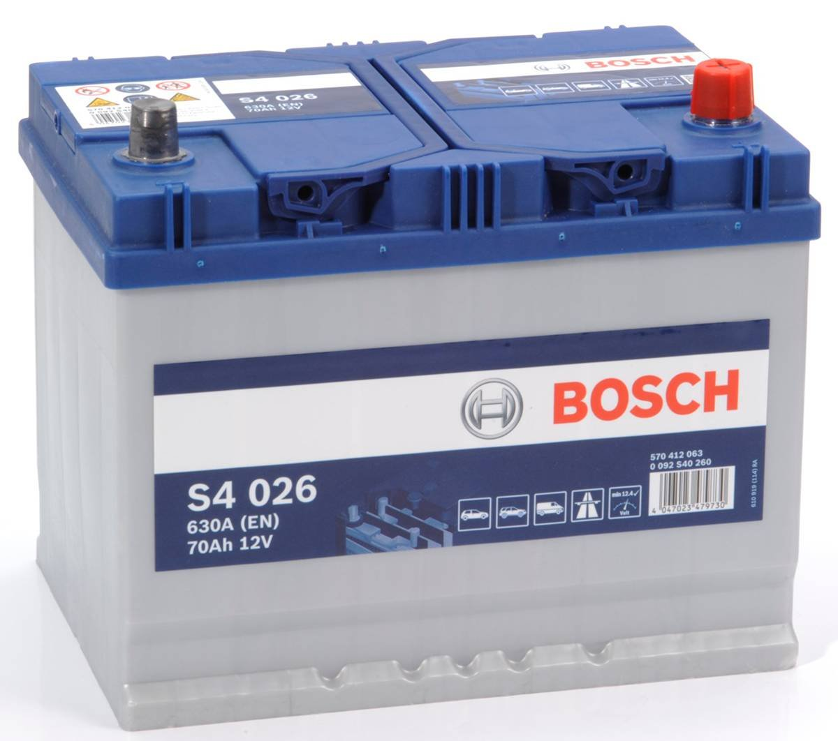 Type 069 Car Battery 570CCA Bosch 12V 70Ah 4 Years Wty Sealed OEM Replacement