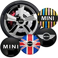 4 Pcs 56mm Car Styling Car Tyre Wheel Center Hub Cap Decal Badge Sticker Accessories For Mini Cooper S One Jcw Clubman…