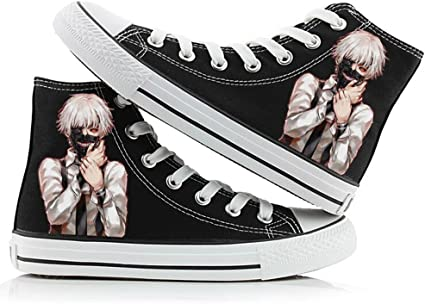 comunista flusso Gonfiare  Amazon.com: Telacos Tokyo Ghoul Anime Kaneki Ken Cosplay Shoes Canvas Shoes  Sneakers Many Choices: Toys & Games