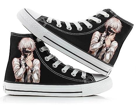 4f008eb8b90 Amazon.com  Tokyo Ghoul Anime Kaneki Ken Cosplay Shoes Canvas Shoes ...