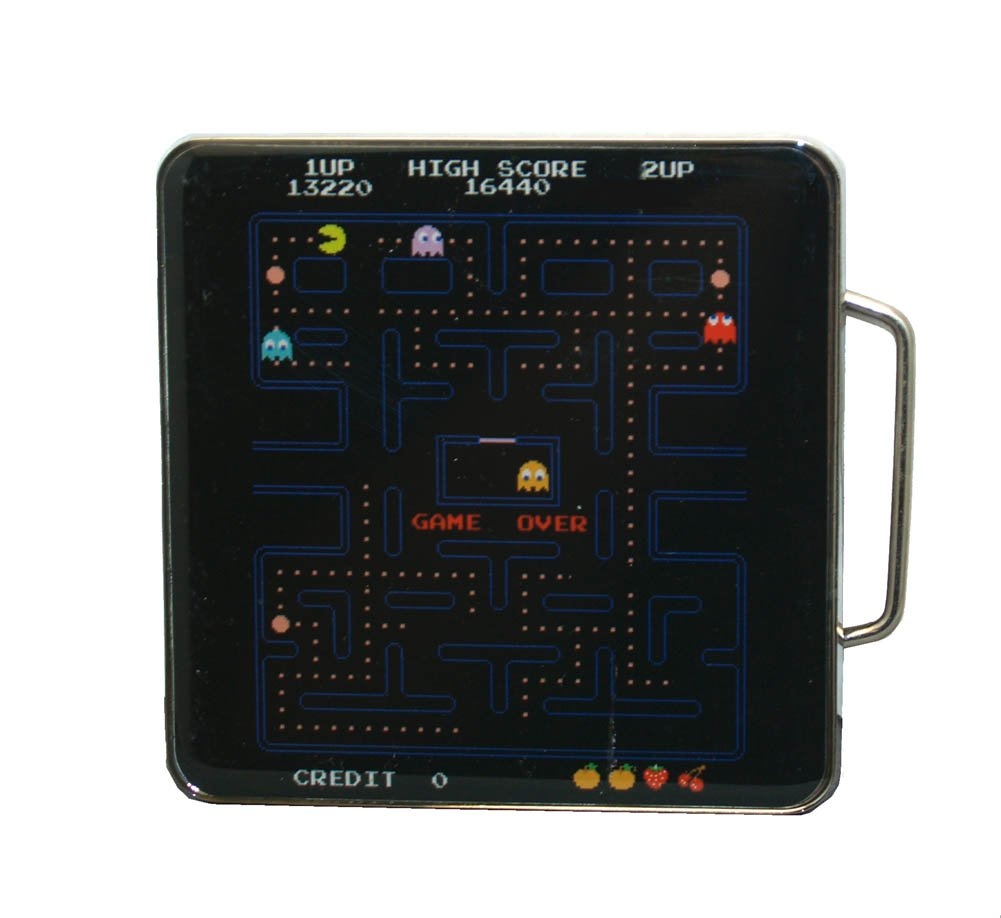 Belt Buckle - Pacman - New Game Board Anime Licensed 86-950-343 BioWorld 86-343-OS