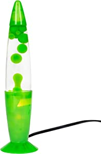 My Groovy Light 13.5 Inch Tabletop Lava Lamp, Green