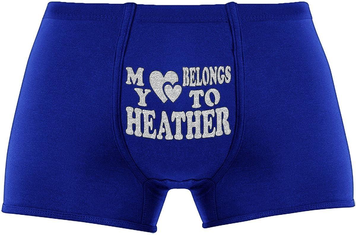 My Heart Belongs to Heather Birthday Present Innovative Gift   Cool Boxer Briefs Novelty Item.