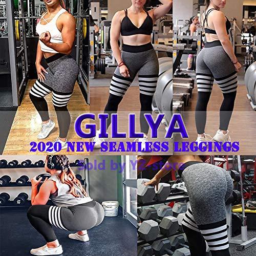 GILLYA High Waist Gym Seamless Leggings Workout Tights for Women Butt Lift Tummy Control Leggings Seamless Yoga Pants 6