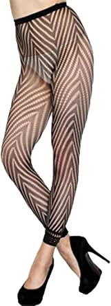 FIYOTE Women Flower Pattern High Waist Footless Lace Trim Pantyhose