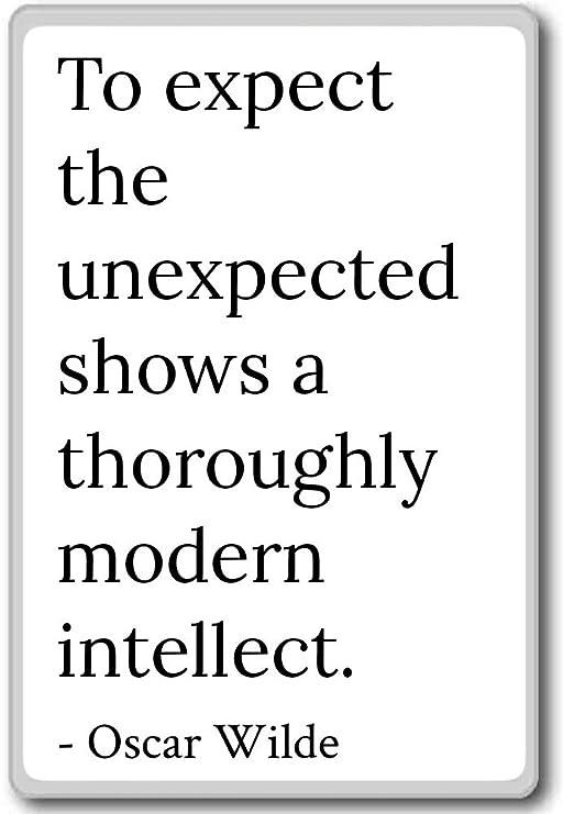 A esperar lo inesperado muestra un fondo Mod... - Oscar Wilde Cita ...