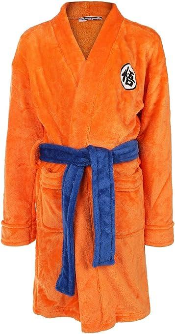 hengGuKeJiYo Adulte Enfants Dragon Ball Peignoir Fils Goku Cosplay Costume Robe De Bain V/êtements De Nuit en Peluche Robe Femmes Hommes Pyjamas Manteau