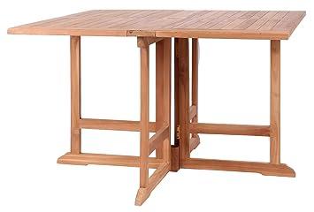 Mr. Deko Teak Klapptisch Kent   Teak   Tisch   Gartentisch   Rund   Klappbar