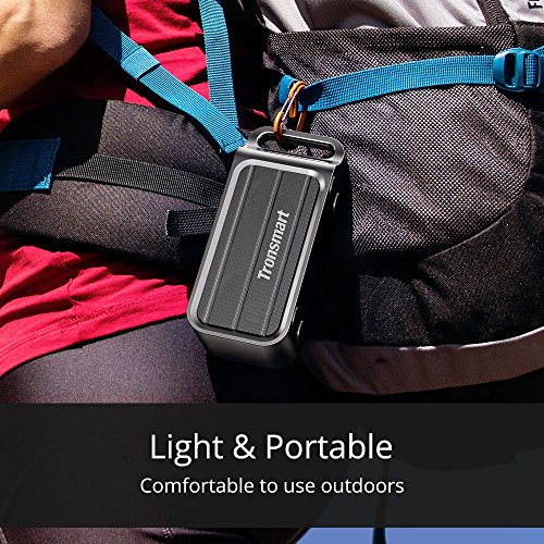 Tronsmart Element T1 Portable Bluetooth Speakers IPX5 Water-Resistant 10-Hour Playtime Portable Outdoor Wireless Speaker with Built-in Mic, Premium Bass, TWS for iPhone, Android