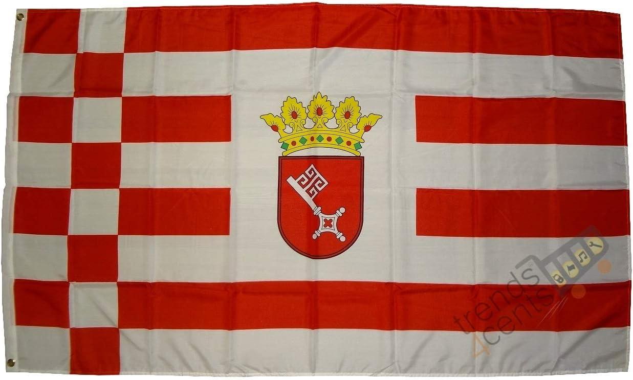 FahnenMax – Bandera de Bremen, 150 x 250 cm Banderas: Amazon.es: Jardín