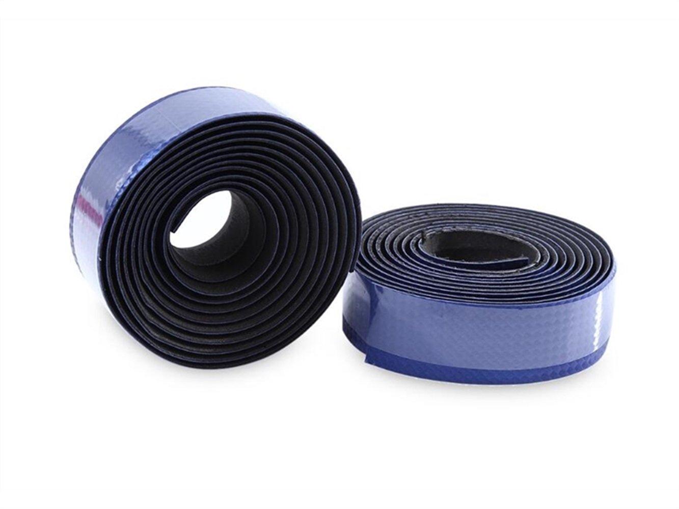 OVVO Besonders Anti Skid Kohlefaser Fahrrad Bar Tape Griff Strap Fahrrad Fixed Gear Bar/Lenkerband Verband (Blau)