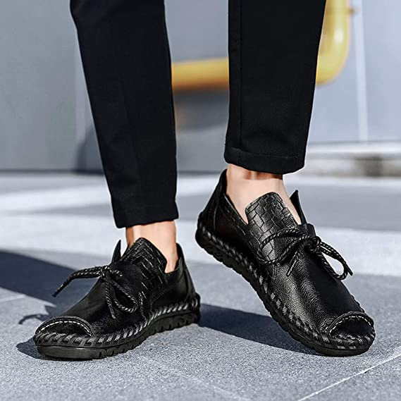 2019 England Mens Leather Shoes British Dress Shoes Casual Loafers Shoes Slip On