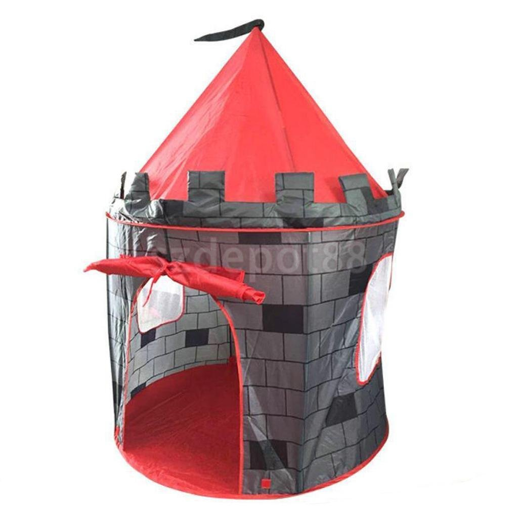 Childrens kids Boys Pop Up Knight Castle Indoor Outdoor Playhouse Play Tent