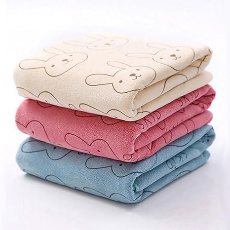 3pcs microfibra suave Bebé Niño para niños toallas de baño fuerte cepillada absorbente toallita seca