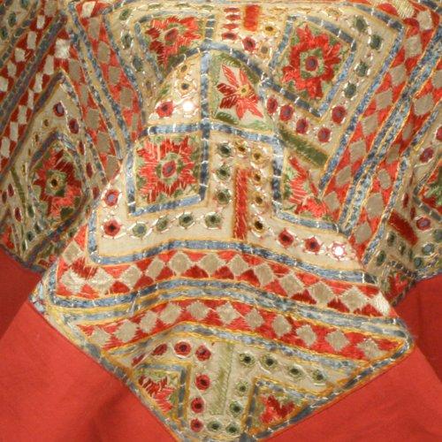 Amazon.com: Indian bordado Colorful cama (con espejo Trabajo ...