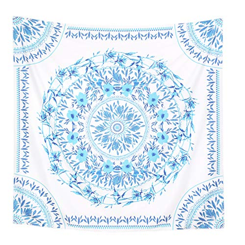 (Simpkeely Mandala Tapestry Wall Hanging, Indian Bohemian Medallion Wall Tapestries Sketched Floral Art, Wall Décor for Dorm Bedding Room Living Room 59