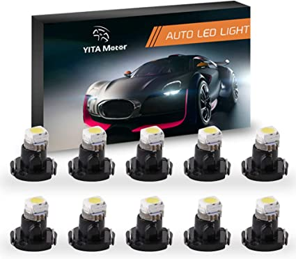 10x T3 LED Instrument Cluster Neo Wedge Dash Panel Climate Lights Bulbs White