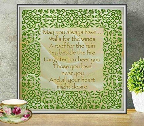 Amazon.com: Irish art God art House Blessings Celtic Gaelic Scottish ...