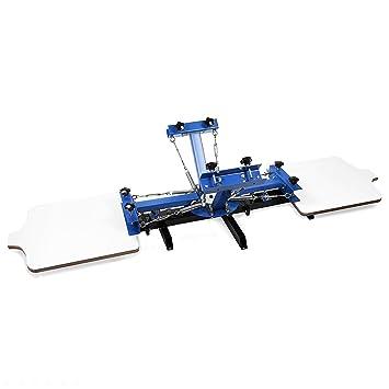 Autovictoria Screen Printing Machine 4 Estaciones de Color 2 Máquina de Serigrafía Sola Impresión Rotatoria de
