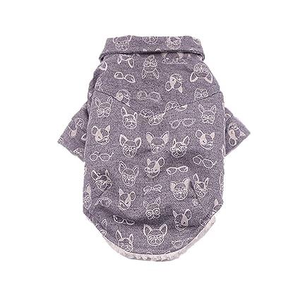 Rawdah_Mascota Ropa para Perros Peque?os Abrigos Camiseta Jerseyss Perro De Pet Caliente Invierno Ropa