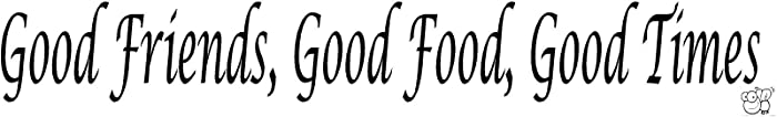GOOD FRIENDS, GOOD FOOD, GOOD TIMES Vinyl wall quotes and sayings home art de...