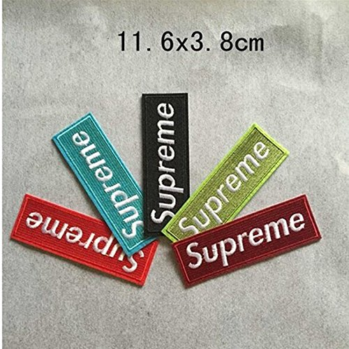 381d6285c6e1 WL iron on mixed 5pcs lot Supreme iron on patches T-shirt biker vest ...