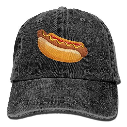 Adult Cowboy Cap Hat Hot Dog Adjustable Cotton Denim Sunscreen Fishing Outdoors Retro Visor]()