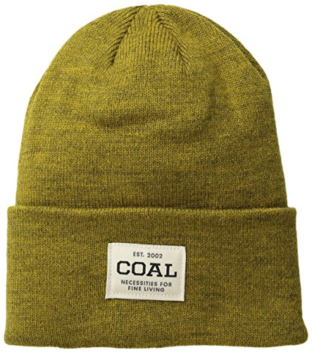 Coal Men's The Uniform Fine Knit Workwear Cuffed Beanie Hat, Golden Heather, One Size by Coal