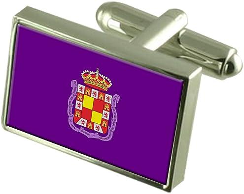 Select Gifts Ciudad de Jaén España en Plata esterlina Gemelos Bandera Cuadro Grabado: Amazon.es: Joyería