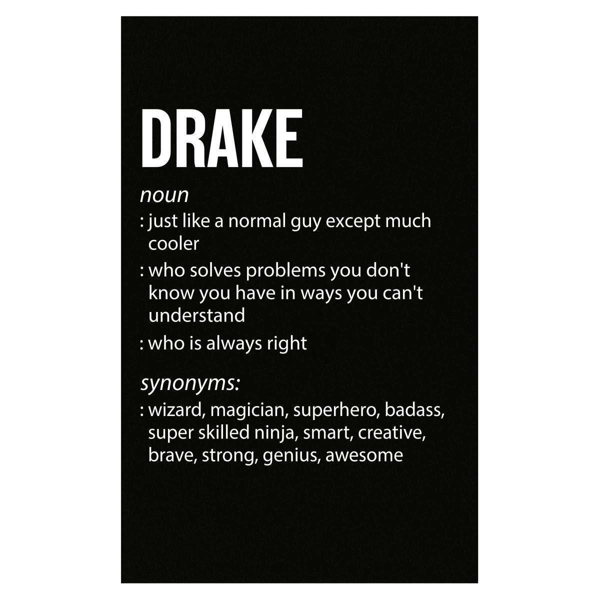 Amazon.com: Inked Creatively Drake Name Meaning Xmas ...